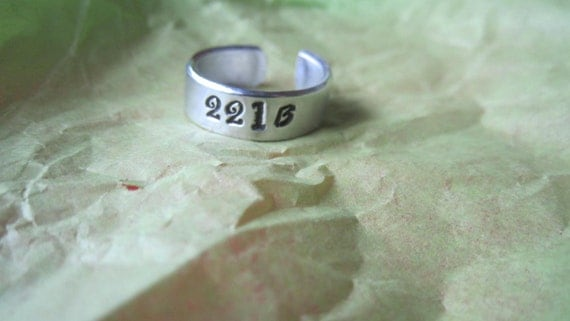 221 B ring... Hand stamped