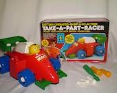 Vintage TAKE-APART-RACER Bump-N-Go Action, Temon Toys, 1990