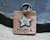 small custom dog tag, copper
