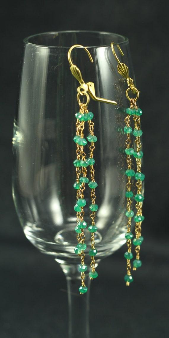 emerald earrings by makamdesigns on etsy