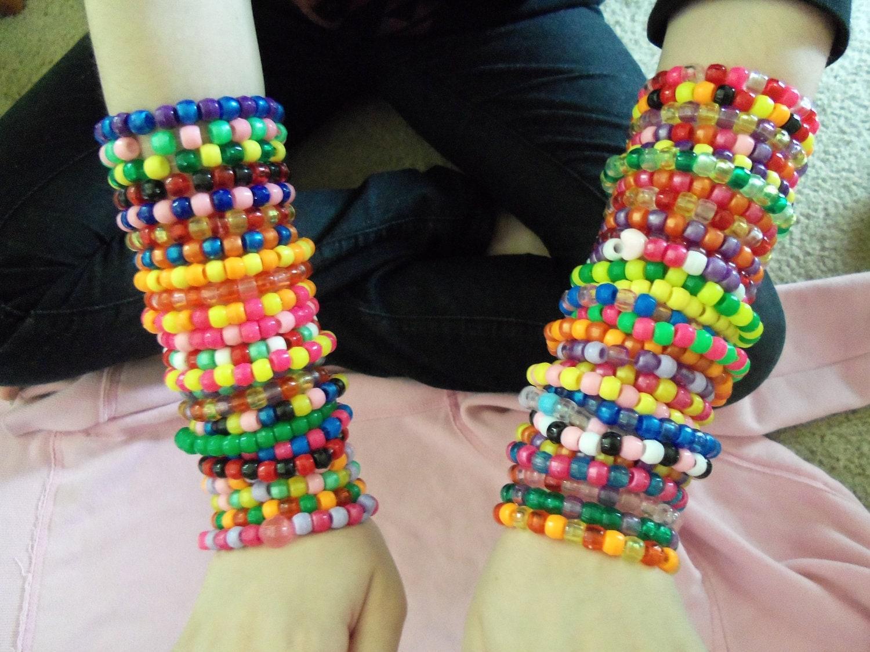 50 kandi bracelets colorful