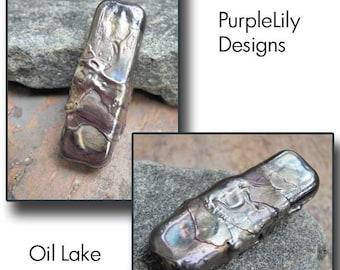 Oil Lake, Lampwork Focal bead,ThePurpleLilyBeads,SRA