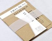 Sample Retro Art Deco Wedding Invitation - Kelly and Trent Collection