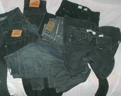 BULKCLOTHING WOMENS wholesale 5 pair of black jeans with low rise skinny straight & flare leg