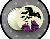 custom listing for: BATS flying from CASTLE 2.25 inch button