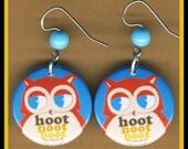 HOOT hoot HOOT owl EARRINGS