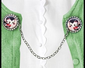 sweet lil kitty CAT Sweater Guard Clip