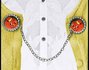 Jack O Lantern Sweater Guard Clip