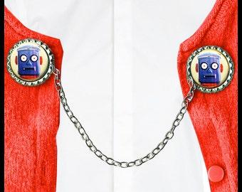ROBOT head Sweater Guard Clip