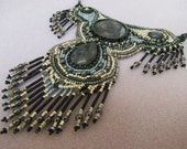 "Bead Embroidery necklace ""Eagle Wings""."