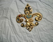 Jeweled Fleur-de-lis Wall Art