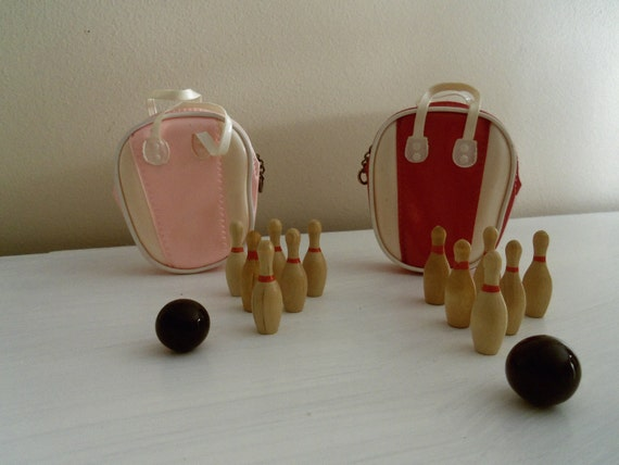Vintage Bowling ball and pins for Barbie Accessories