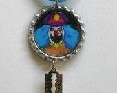 Dr. Rockso the Rock n Roll clown Metalocalypse Bottle Cap Necklace