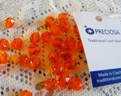 20 Beautiful Orange Fire Polished Beads 6mm (OR1)