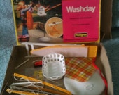 1978 Sindy Washday set, with box,very rare & complete. Vintage