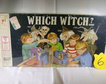 1970's Milton Bradley Which Witch game