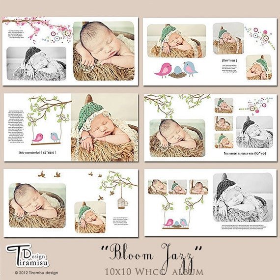10x10 Baby Album Templates Photobook Photoshop Template