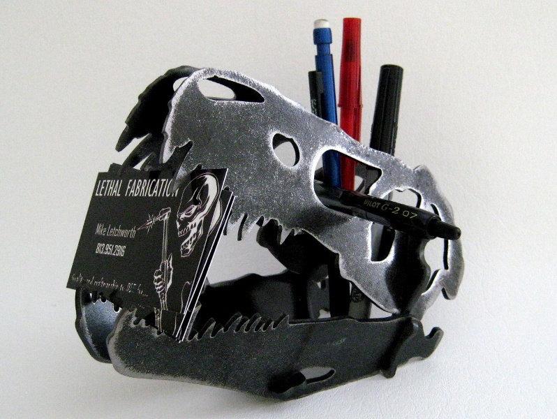 Steel Dinosaur Skull T Rex Metal Desk Decoration Cnc Plasma