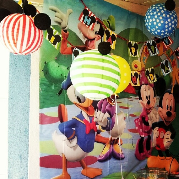 Set of 6 Mickey Mouse Inspired Paper Lanterns