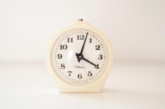 """recerved for Alex//Vintage ivory mechanical alarm clock """"Sevani"""""""