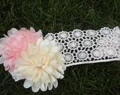 Pink and Cream Headband