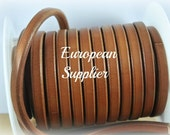 10 mm Camel - 1 Thick Leather cord - 20 cm - Supplies - Wholesale - Findings - Superior Quality - European supplier - REG-03