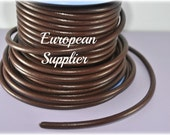 4.5mm leather cord - 1 meter - Findings - Supplies - Make jewelry-  Superior Quality leather - European -REG-07