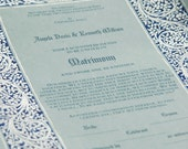 Wedding Certificate - Silver Leaves