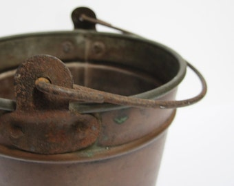 Antique Small Copper Pail