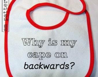 Machine Embroidery Design - Backwards Cape