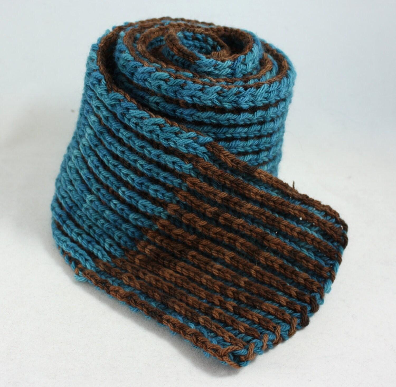 Chasm Brioche Scarf Knitting Pattern by MelindaVermeerDesign