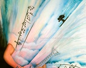 Exceed Your Limits - Original Watercolor Music Painting