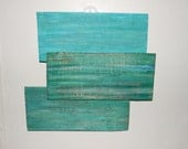 "Beach inspired ""Abstract"" sign on reclaimed wood siding"