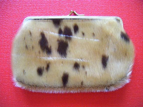 Vintage Genuine Alaska Seal Fur Pouch / Wallet / Change Purse