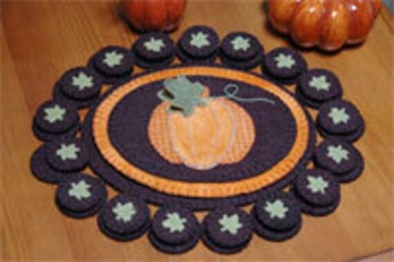 Fall Pumpkin Penny Rug E-Pattern