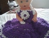 Awesome Summertime Crocheted Dress with Flip Flops and Headband/Baby Girl