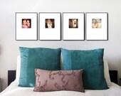 Custom Instagram Wall Art Prints - 11x14 with 5x5 image - FRAMED (set of 4)