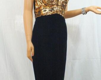 Strapless Gold bustier dress