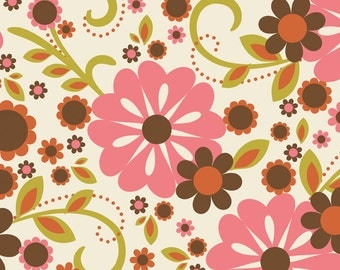 Riley Blake Fabric by the yard - Indian Summer - Cream