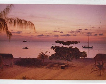 Sunset on Seven Mile Beach, Cayman Islands,  8 x 10 Fine Art Print