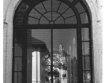 Bathhouse Relections, Hot Springs, Arkansas,  8 x 10 Fine Art Print,, Black and White