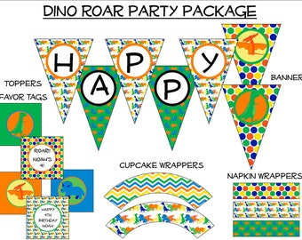 Dino Roar Birthday Party - Instant Download