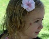Flower Hair Ciip w/Rhinestone Center