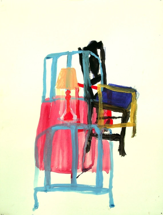 Imagery from the interior: Contemporary gouache painting