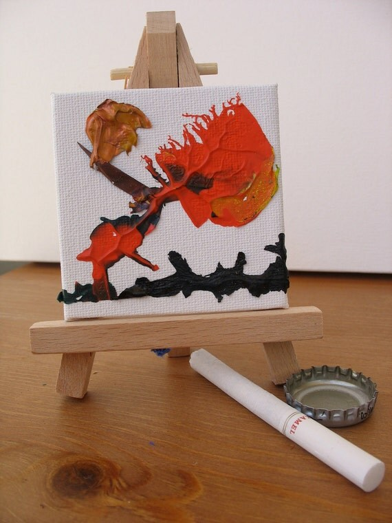 2008 Alien mini Painting by g9