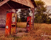 Old Gas Station 2- 8x12 HDR Fine Art Color Photograph