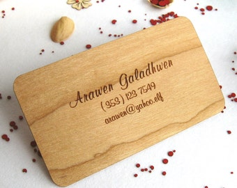 Engraved wood business cards 100, wooden business cards,  wood cards