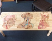 Get to know your friends and neighbors Woodburn and Watercolor Coffee Table