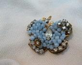 Original by Robert Light Blue butterfly pin