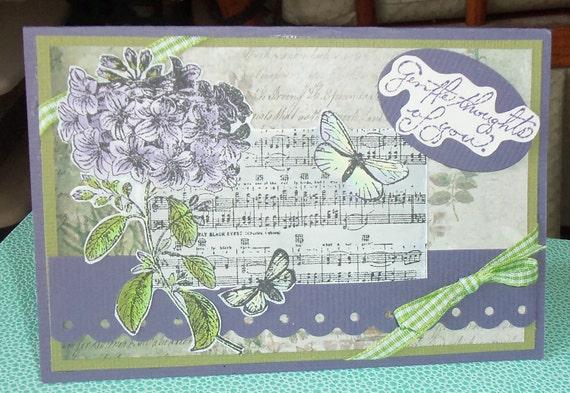 Handmade Greeting card/feminine birthday